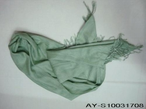 China pretty green colour lady cashmere-like material scarf cheap price on sale