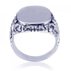 China 925 Sterling Silver oxide Carved Rings on sale