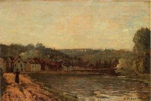 China Impressionist(3830) The_Banks_of_the_Seine_at_Bougival