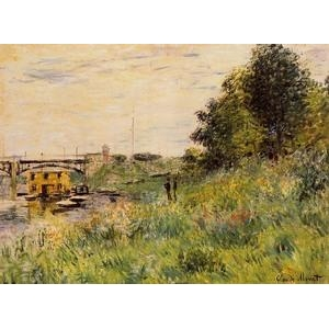 Impressionist(3830) The_Banks_of_the_Seine_at_the_Argenteuil_Bridge