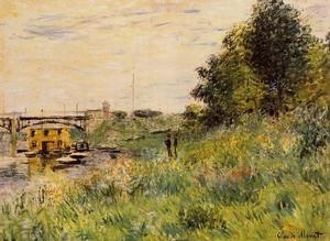 China Impressionist(3830) The_Banks_of_the_Seine_at_the_Argenteuil_Bridge