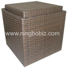 China Resin Wicker Storage Ottomans on sale