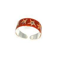 925 Sterling Silver Enamel Toe Ring