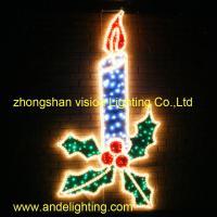 China LED 2D LARGE FESTIVE CANDLE on sale