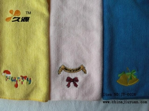 China Microfiber embroidery towel on sale