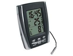 China Indoor & Outdoor Thermometer with Clock on sale