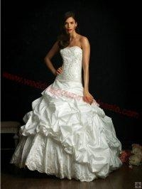 China Strapless Vintage Wedding Dress with Bubble Overskirt z121736 on sale