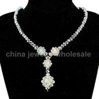 Elegant Handmade Costume Crystal Necklace