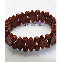 gold sand Semi-precious stone beads bracelet