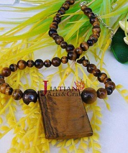 China tiger eye Semi-precious stone beads/pendant necklace on sale