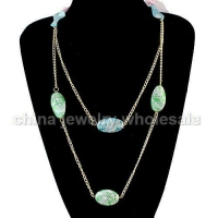Costume Fashion 3 Layers Aluminum Plated Necklace