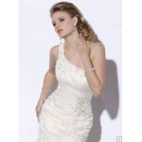 China 2010 one shoulder Fit and flare gown on sale