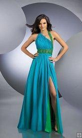 China One Shouler Open Back Dance Evening Dresses on sale