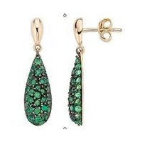 gemstone earring(Emerald Yellow Gold -EVIE0248)