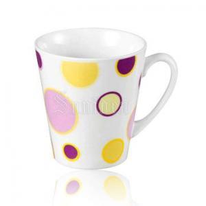 China Mugs Home >  Tableware >  Dinnerware > Mugs > TB03243-11oz porcelain mug with colorful dots design on sale