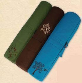 China Wai Lana Wai Lana Green Organic Cotton Yoga Tote - Waterfall, ON HANGING HEADER on sale