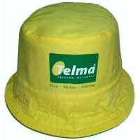 yellow fishing cap with printing logo