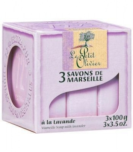 China Purple Lavender (3) Marseille Soaps by Le Petit Olivier on sale
