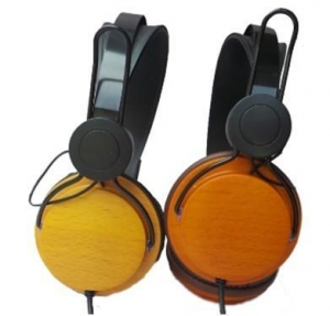 China Wood headphone on sale