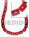China Wholesale Horn Beads Bone Beads Jewelry Red Rectangular[BAH037BN] on sale