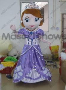 China New design adult mascot costume princess sofia adult sofia the first mascot costume on sale