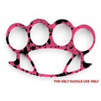 Hercules Pink Camo Small Brass Knuckles