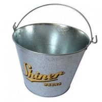 beer metal ice bucket oval