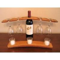 China Wine Accessories Wine Barrel Stemware Holder on sale