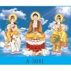 China 3D lenticular products 3D Buddhist pictures on sale