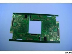 China Controlled Impedance PCB with Green Solder Mask and Black Silkscreen on sale