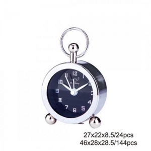 China Silver Round Table Clock AM0065B on sale