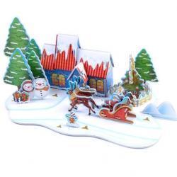 China 3D Castle Puzzles Christmas Castle Puzzle on sale