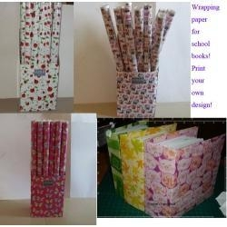 China Slant Memo Pad BOPP Metallized Wrapping Paper on sale