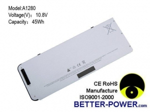 China Laptop battery for A1280/A1278 MB771 MB771*/A,MacBook 13 on sale