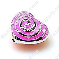 China Acrylic Beads Bead,Plated Acrylic Beads with enamel,Heart Beads ,15*24*28mm , Hot Pink on sale
