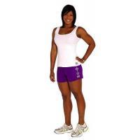 Style 900WS Micro blend purple training shorts zebra fleur de lis design (COPY)
