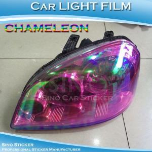 China Red Chameleon Car Light Vinyl Film on sale