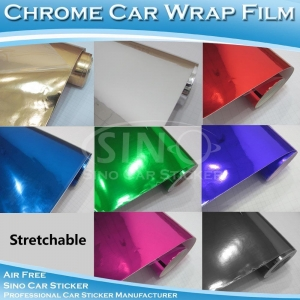 China Stretchable Chrome Mirror Car Wrapping Vinyl Film on sale
