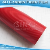 Red 4D Carbon Fiber Vinyl Sticker