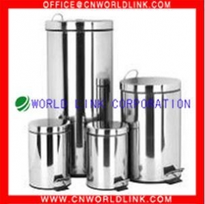 China Stainless steel products kitchen SS bins on sale