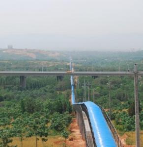 China Overland curved belt conveyor on sale