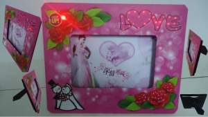 China wedding gift LED roses photo picture frame on sale on sale