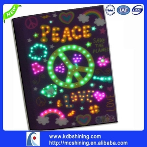 China china supplier school led diary cover page design on sale