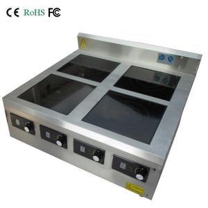China 4 burner commercial induction range on sale
