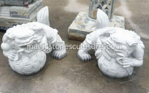 China pair granite lion on sale
