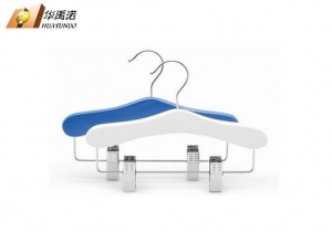 China Suit hanger with clips for kids / baby hangers with clips / baby suit hangers on sale