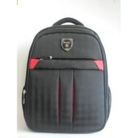 thick and durable grid fabric office and business laptop backpack bag with overall foam on the back