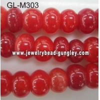 China Abacus shape agate bead-cherry cracked on sale