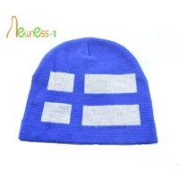 China Custom Beanie Fashion Custom Jacquard Beanie Hat Embroidery Knitted Hat Wholesale on sale