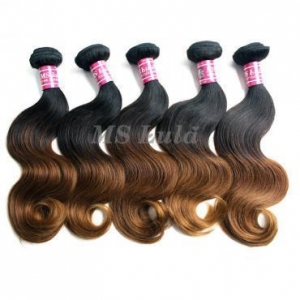 China 5pcs Brazilian Body Wave Ombre Hair Weave on sale